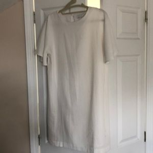 White short bell sleeve dress